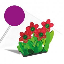 """""""Virágok"""" szalvétatartó lila"""