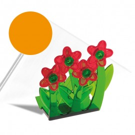 """""""Virágok"""" szalvétatartó narancssárga"""