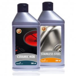 Rozsdamentesés krómozott acél tisztására szolgáló emulzió + Kerámialapos főzőlap tisztítására és impregnálására szolgáló tej