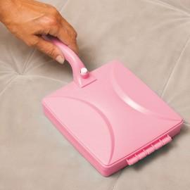 4-görgős kárpit és szőnyegkefe rózsaszín