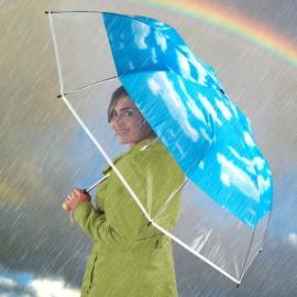 Átlátszó 360°-os panelű esernyő