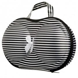 Elegáns fehérneműtartó táska fekete-fehér