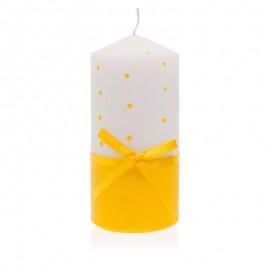 Kerek, sárga gyertya