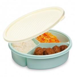 Háromrészes fedeles tányér