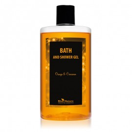 Narancs és fahéj tusfürdő zuhanyzáshoz és fürdéshez