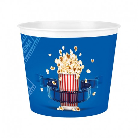 Popcorn vödör kék színü