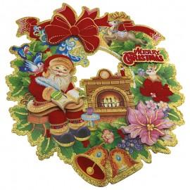 Ünnepi 3d dísz karácsonyi koszorú