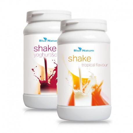 Blue Nature shake trópusi+ Blue Nature shake joghurtos-cseresznyés