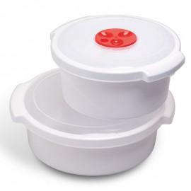 Mikrohullámú sütőbe helyezhető dobozok 1,5 liter űrtartalmú doboz