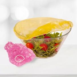 Fóliából készült ételfedő rózsaszín