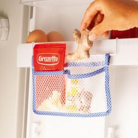 Zacskótároló zsebek hűtőszekrényhez