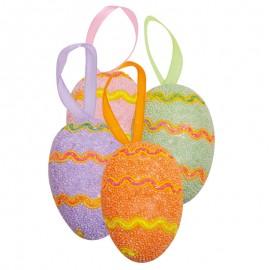 Húsvéti tojás - színes cikk-cakk
