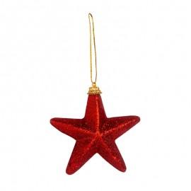 Törhetetlen díszek - csillagok piros