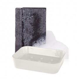 Készlet: a holt-tengeri iszap és só szappan + szappantartó