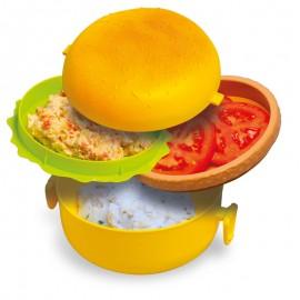 """""""Hamburger"""" reggeli tároló doboz"""