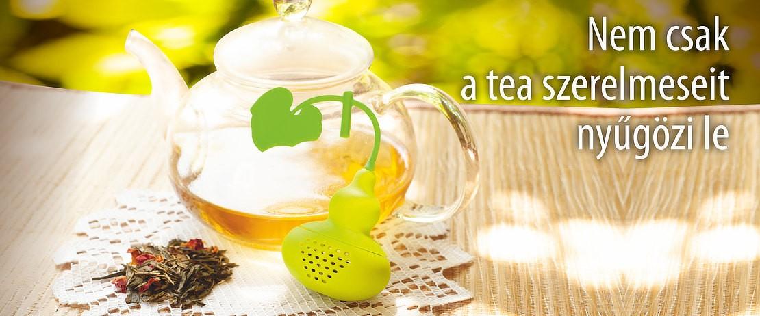 Szilikonos teafilter