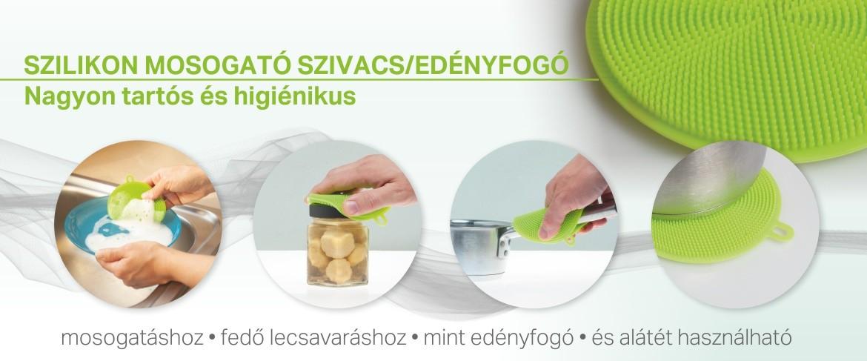 Szilikon mosogató szivacs/edényfogó